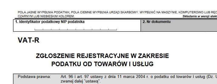 Zgłoszenie VAT-R w CEIDG